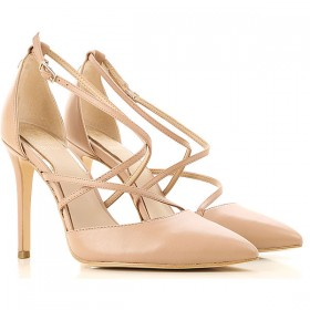 Guess Women Pumps Nude Leather, Fabric Express ZQGWY2357