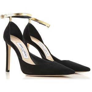Jimmy Choo Women Pumps Black Suede Leather, Leather cool designs EIOQF3694