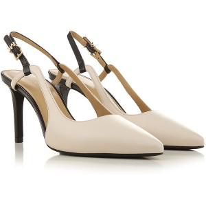 Michael Kors Women Pumps Cream Leather Fitted STSMN8975