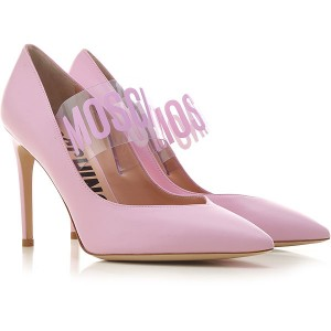 Moschino Women Pumps Pink Leather CUNPE2752