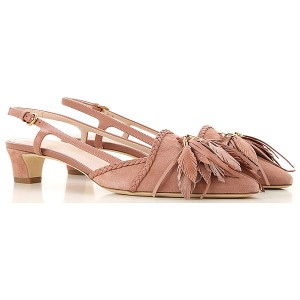 Tod's Women Pumps Nude Suede Leather HTBID3975