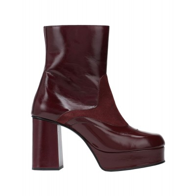 Women High Heels Laced Shoes Business Casual - Women Ankle boots Soft Leather MGWKM7439