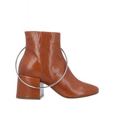 Women High Heels Laced Shoes Clearance Trend - Women Ankle boots Soft Leather KTZCD7784