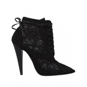 Women High Heels Laced Shoes new look Fit - Women Ankle boots Textile fibers 3LTXY5383