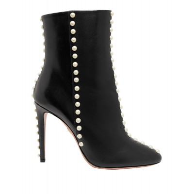 Women Low Heels Laced Shoes In Store Fashion - Women Ankle boots Calfskin OMY0L1504