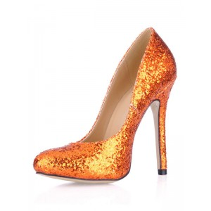 Sequin Pointed Toe Dress Pumps most comfortable #23740188654