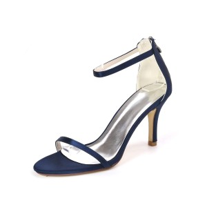 Wedding Shoes Ture Red Satin Buckle Open Toe Stiletto Heel Bridal Shoes for sale near me #05790902752