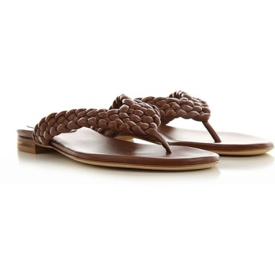 Anna F. Women Sandals Brown Leather The Most Popular JKTOO2046