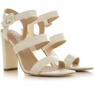 Guess Women Sandals Cream Leather At Target ATYUI9733