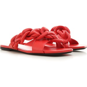 NO 21 Women Sandals Red Leather outfits FVZPL8648