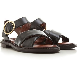 See By Chloe Women Sandals Black Leather boutique PBVHI7079