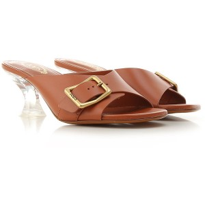Tod's Women Sandals Rust Leather Selling Well NCQSZ9087