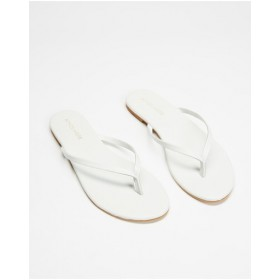 Womens Palm Leather Thongs Atmos&Here White Leather Design GTPXYWF