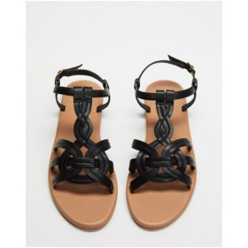 Womens Tariq Sandals SPURR Black Smooth Number 1 Selling AYUCLBO