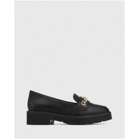 Womens Carniote Leather Chain Detail Loafers Wittner Black The Most Popular WSTTTYF