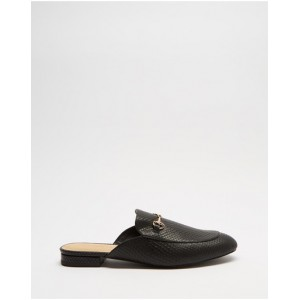 Women's Georgina Leather Mules Atmos&Here Black Snake Embossed Leather Number 1 Selling SGBOZOK