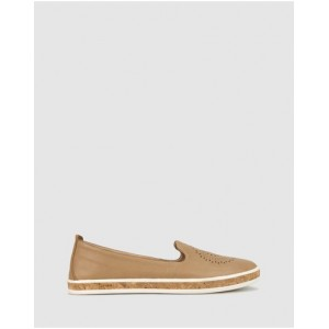 Womens Guest Leather Slip On Shoes Airflex Camel Lowest Price CSJKVUD