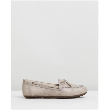 Women's Virginia Leather Moccasins Vionic Nude in new look QDDQMAG