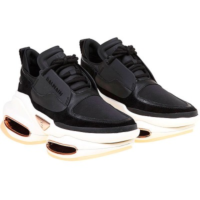 Balmain Women Sneakers Black Leather, Suede Leather fashion guide QIQSV6125