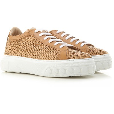 Casadei Women Sneakers Brown Woven Leather RDTDP8784