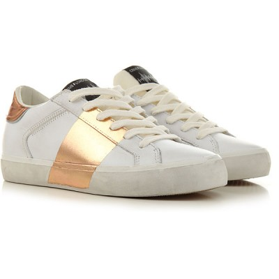 Crime Women Sneakers White Leather Cut Off LVCNA6087