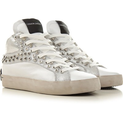 Crime Women Sneakers White Leather In Sale VHURG8418