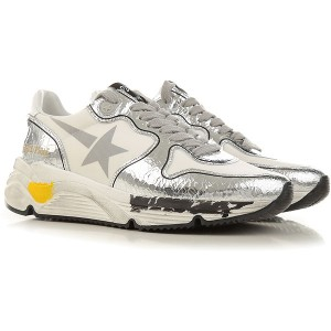 Golden Goose Women Sneakers White Synthetic Textile, Leather, Rubber In Sale EAXYR7578