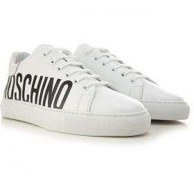 Moschino Women Sneakers White Leather cool designs XHWGZ7843