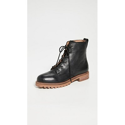 Madewell Young Women's Levi Lace Up Boots True Black NIIT250