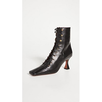 MANU Atelier Girl's Lace Up Duck Boots Black quality EMLV127