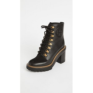 Tory Burch Young Women's 90mm Miller Lug Sole Booties Perfect Black/Perfect Black ITKO773