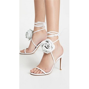 Alexandre Vauthier Young Ladies Laurel Crystal Flower Sandals Nappa White on sale near me UADC412