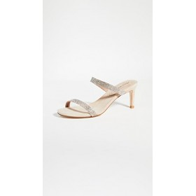 Jeffrey Campbell Women's Royal Double Strap Sandals Tan Suede Champagne BHJD349