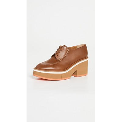Clergerie Women's Anja Heeled Oxford Shoes Wood 2021 Trends QQZZ944