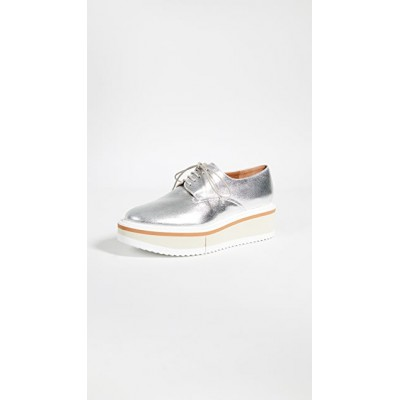 Clergerie Womens Brook Oxfords Silver cool designs YGXI744