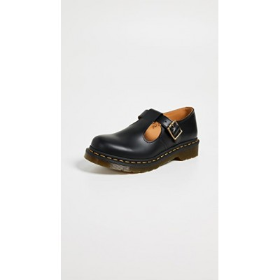 Dr. Martens Young Ladies Polley T-Bar Mary Jane Shoes Black Trends LIYA787