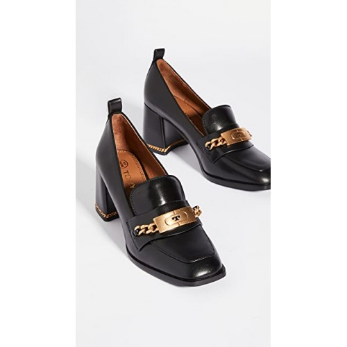 Tory Burch Women's Chain 70mm Loafers Perfect Black/Perfect Black QWLH161